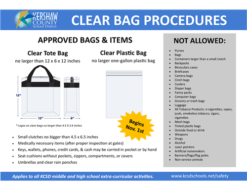 Clear Bag Procedures