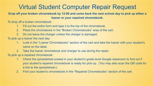 Virtual student repair request