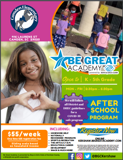 Be Great Academy Flyer