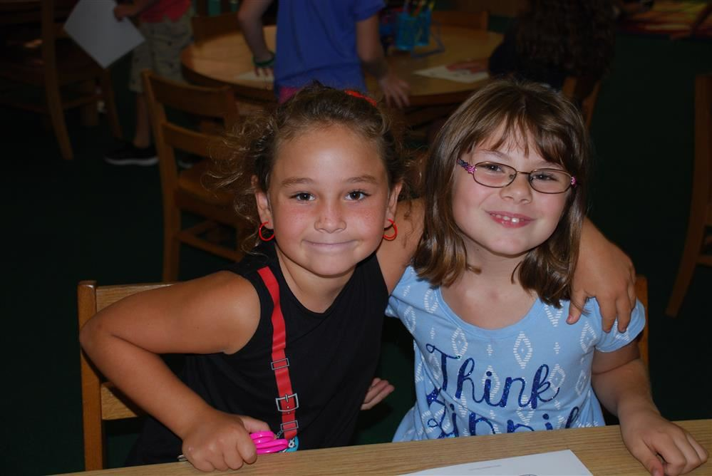 two students at camden elementary