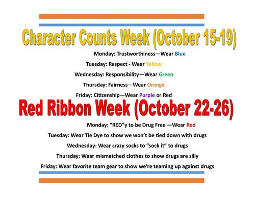 Character Counts & Red Ribbon Week