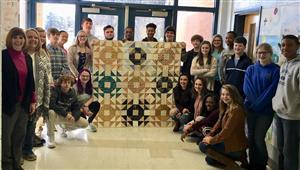 3rd Block Honor Geometry with Quilt