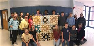4th Block Honor Geometry with Quilt