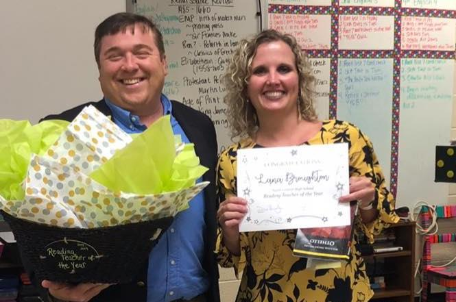 Congrats to Lana Broughton, Reading Teacher of the Year!