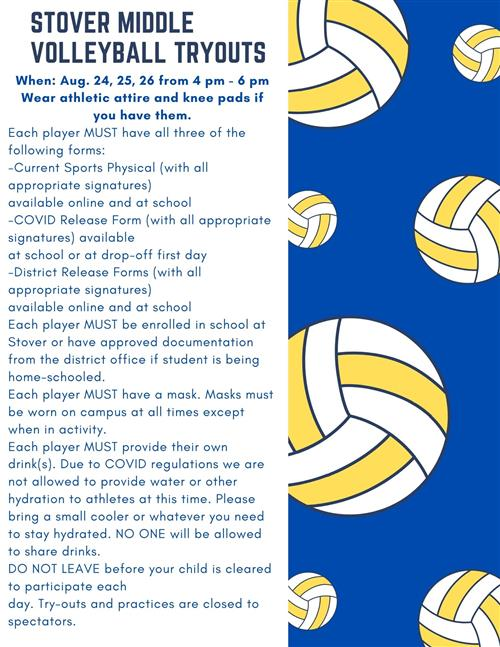 Volleyball Tryout Info