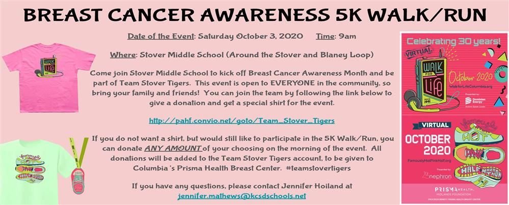 This is the 30th year for Columbia's Famously Hot Pink Walk for Life, 5K, 10K, and Marathon. Due to