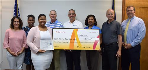 INVISTA recently donated $10,000 to the Kershaw County School District.