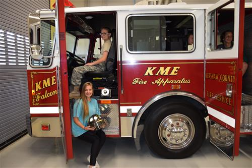2019-09-24 KC Donates firetruck WTC - additional students