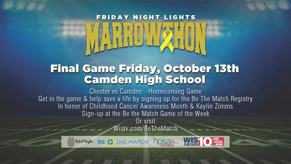 ATEC HOSA students will be providing information and Be A Match kits at the Camden High vs. Chester