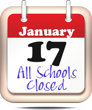 January 17 - All Schools Closed for Weather