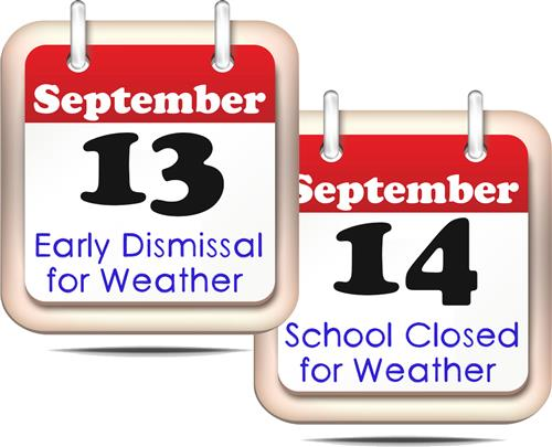 KCSD schools, offices to dismiss early Sept. 13, close Sept. 14