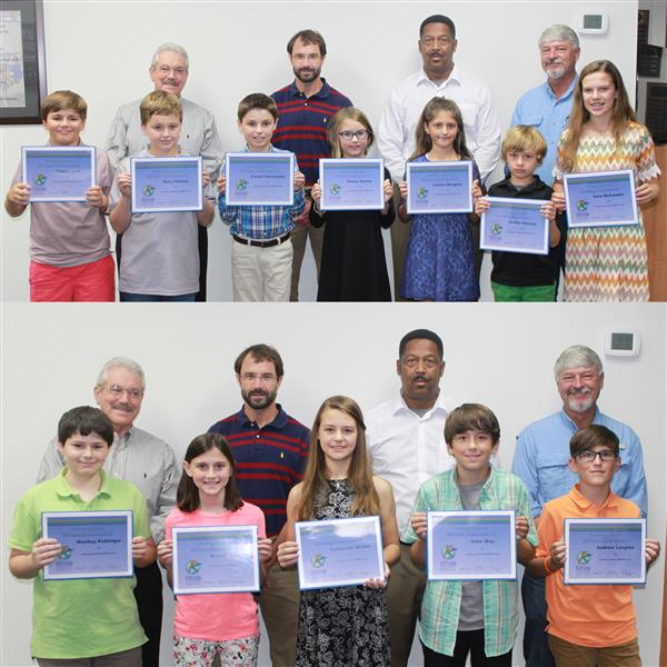 KCSD Students were recognized for perfect scores on state test.