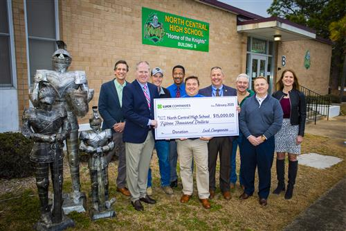 Luck Companies donates $15,000 to North Central High School