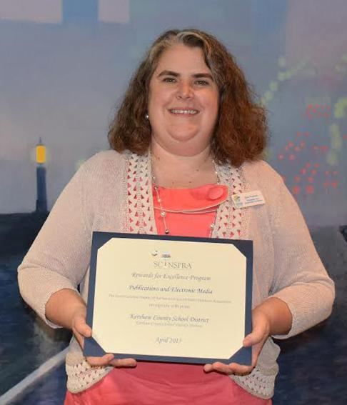 KCSD ​Webmaster/Multimedia Coordinator Julie Putnam​ is recognized for her work with the district's