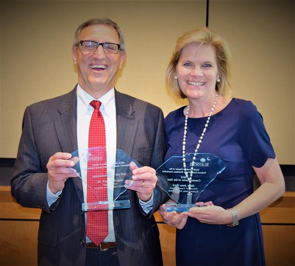 Frank Morgan named the SC/NSPRA 2018 Administrator of the Year & Mary Anne Byrd named 2018 Communic