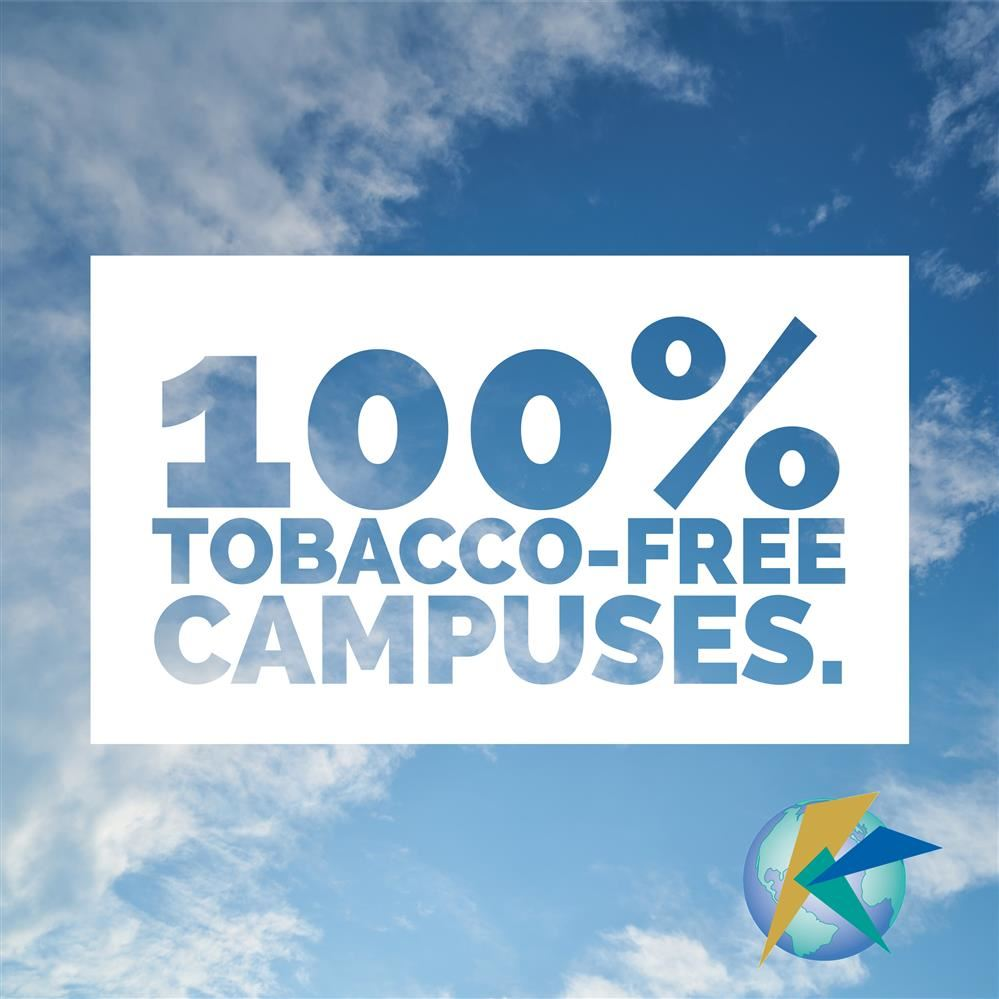 100% Tobacco-Free Campuses.