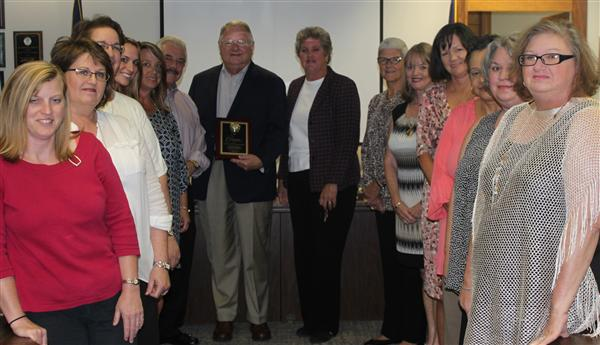 The Upchurch & Jowers Insurance Agency staff members are honored as SCSBA's latest Champion for Pub