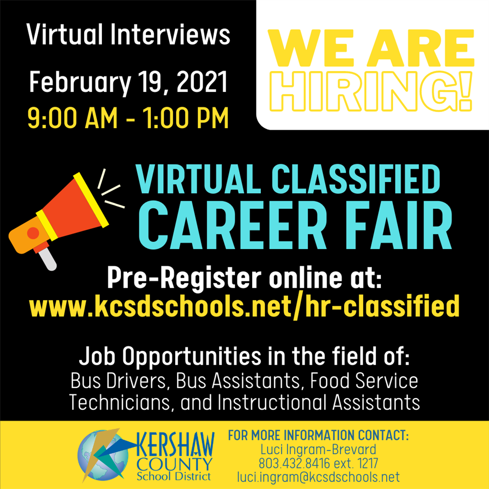 Virtual Classified Career Fair