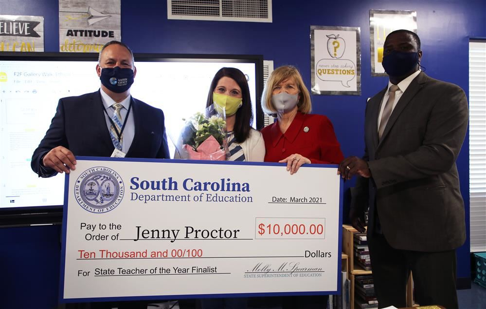 SC Honor Roll Teacher of the Year Jenny Proctor
