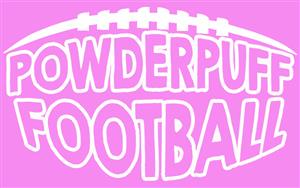 Powderpuff Football text graphic