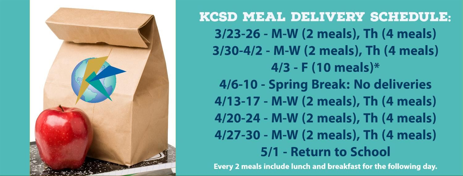 Meal Delivery Schedule
