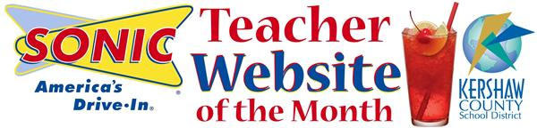 Sonic Teacher Website of the Month Logo